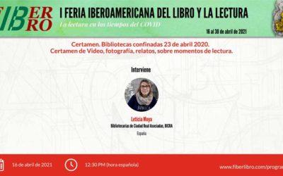 Certamen. Bibliotecas confinadas 23 de abril 2020. Certamen de Video, fotografía, relatos, sobre momentos de lectura.