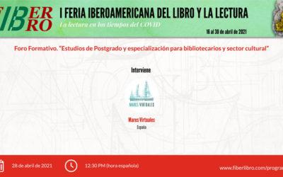 """Foro Formativo. """"Estudios de Postgrado y especialización para bibliotecarios y sector cultural""""."""
