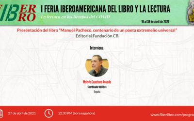 """Presentación libro: """"Manuel Pacheco, centenario de un poeta extremeño universal"""""""