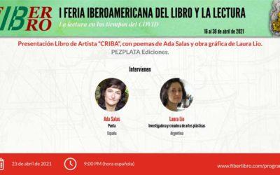 """Presentación Libro de Artista """"CRIBA"""", con poemas de Ada Salas y obra gráfica de Laura Lio"""